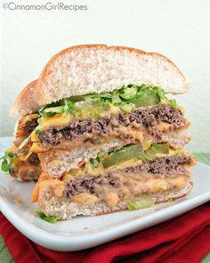 Healthier Homemade Big Mac's.... i wouldn't make it that big, but loveeee the mac sauce!