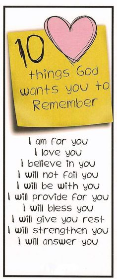God wants you to remember