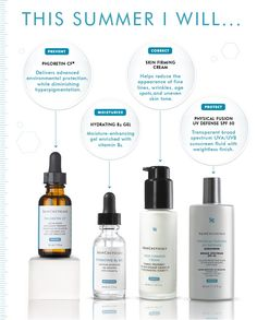 Which SkinCeuticals products are great to use in the summer? These!!