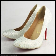 Christian Louboutin Evening Strass Crystal Covered White