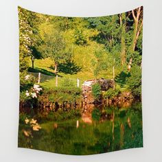 Green life, a river and reflections Wall Tapestries, Tapestry, Green River, Decorating Your Home, Reflection, Tips, Fun, Photography, Painting