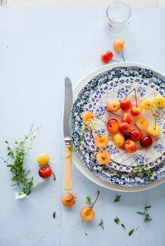 #foodstyling #foodphotography #rainier cherries #inspiration #natural light #still life | @aupetitgout