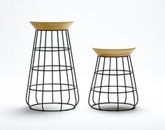 Sidekick Collection, consisting of a  low stool, tall stool and side table by New Zealand based designed Timothy John.