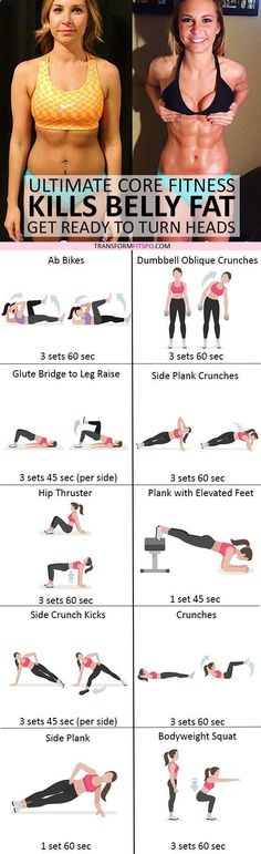 Belly Fat Workout - #womensworkout #workout #femalefitness Repin and share if this workout killed your belly fat! Click the pin for the full workout. Do This One Unusual 10-Minute Trick Before Work To Melt Away 15+ Pounds of Belly Fat