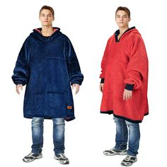 Best Seller Catalonia Oversized Hoodie Blanket Sweatshirt,Super Soft Warm Comfortable Sherpa Giant Pullover Large Front Pocket,for Adults Men Women College Teenagers Kids,Blue online - Wouldtopshopping Fluffy Blankets, Wearable Blanket, Toddler Travel, Online Shopping Stores, Hoodies, Sweatshirts, One Size Fits All, Winter Jackets, Warm