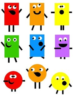 Looking for monsters? Need shape clip art? Then why not use my adorable and original Shape Monsters Clip Art for bulletin boards, desk tags, news. Art Activities For Kids, Art For Kids, Shape Activities, Monster Games For Kids, Math Clipart, Learning Shapes, Shape Art, Preschool Activities, Art Images