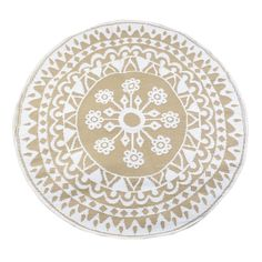 Easily freshen up your outdoor patio space with our Taupe Boho Floral Round Outdoor Rug! The medallion design will look great with any decor design you have.
