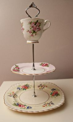 #kimberlingray  Carly's First Birthday Cake Smash Idea: Shabby Chic Tea Party  Decor:  Filled with sweet pink macaroons