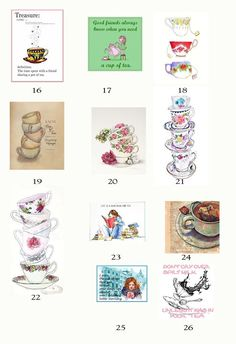 SERIES 2-Mix or Match- 5 Blank Note - Studioart88 Clark Art, My Cup Of Tea, Plastic Case, White Envelopes, Tea Cups, Notes, Prints, Cards, Handmade