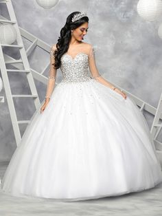 Custom quinceanera dresses in bright colors! These quince dresses can be made in any color. Lots of vestidos de quinceanera to choose from. Sweet 16 Dresses, Sweet Dress, Pretty Dresses, Beautiful Dresses, Xv Dresses, Prom Dresses, White Quince Dresses, Dream Wedding Dresses, Wedding Gowns