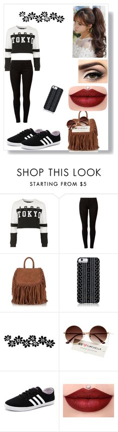 """""""Sem título #25"""" by barbaraloves ❤ liked on Polyvore featuring Topshop, Dorothy Perkins, Superdry, Savannah Hayes, adidas NEO and Pin Show"""