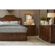 A.R.T. Furniture Kingsport Panel Bed, Queen Furniture, Bedroom Panel, Panel Bed, How To Clean Furniture, Traditional Furniture, Oak Bedside Tables, Oak Panels, Bedroom Set, Furniture Design