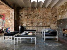 Living room of Benito's Loft in Barcelona