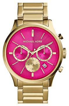 MICHAEL Michael Kors Michael Kors 'Bailey' Chronograph Bracelet Watch, 44mm available at #Nordstrom
