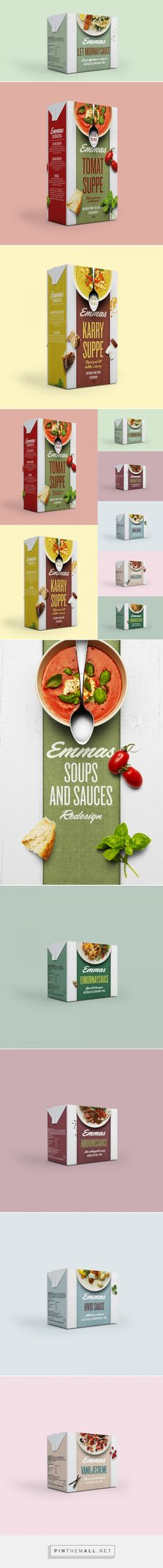 Love this packaging! Great use of fonts, colors, textures and photography. - Emmas Soups and Sauces — The Dieline - Branding & Packaging - created via https://pinthemall.net