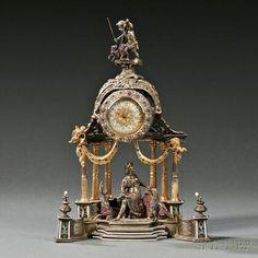 Antique Wall Clocks, Classic Clocks, Greek Pottery, Wall Clock Online, Clocks For Sale, Mantel Clocks, Modern Clock, Enamel, Jewels