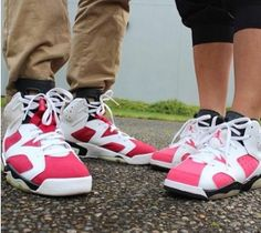 Carmine 6's & Coral Rose 6's