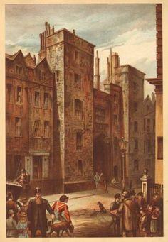 1900 OLD LONDON PRINT ~ TUDOR GATEWAY LINCOLN'S INN CHANCERY LANE in Art, Prints, Antique (Pre-1900), Architecture | eBay