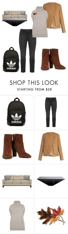 """""""Illusions"""" by black-wings ❤ liked on Polyvore featuring adidas Originals, KJ Brand, Giuseppe Zanotti, See by Chloé, Iris & Ink and Anne Klein"""