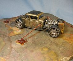 """""""Future Rod"""".built by """"Hollywood:Jim fernandez.This is such a beast it has to chained down!"""