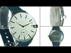 The Blip watch by Newgate Watches. Steel watch with blue canvas strap.