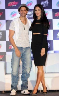Hrithik Roshan and Katrina Kaif at the launch of Mountain Dew's Heroes Wanted Campaign.