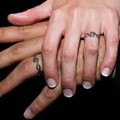 Wedding Ring Tattoos ring tattoo designs for couples Couples Ring Tattoos, Ring Finger Tattoos, Couple Tattoos, Love Tattoos, Body Art Tattoos, Marriage Ring Tattoos, Tatoos, Wedding Band Tattoo, Tattoo Band