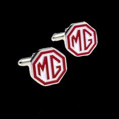 MG Logo Formal Groomsmen Groom Wedding Mens Cufflinks