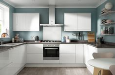 Soho Gloss White from Benchmarx - maybe our actual kitchen!