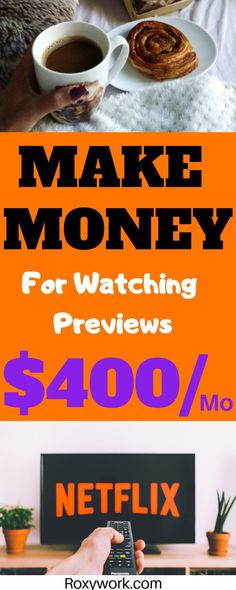 and fun way to earn extra cash from home. It pays my bills!Easy and fun way to earn extra cash from home. It pays my bills! Earn Extra Money Online, Earn Extra Cash, Cash From Home, Make Money From Home, Make Easy Money, Make Money Blogging, Movie Previews, Movies To Watch, Making Ideas