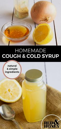 Don't spend half the night awake coughing. Instead, whip up this homemade DIY cough and cold syrup with everyday natural ingredients. Our whole family has used it throughout the winter months when those dry hacking coughs just won't quit. Home Remedy For Cough, Cold Home Remedies, Cough Remedies, Herbal Remedies, Health Remedies, Homemade Cough Syrup, Ginger Benefits, Natural Remedies For Anxiety, Natural Cures