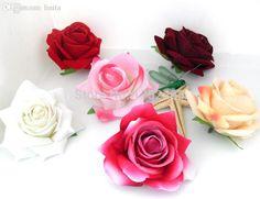 Hochwertigem Kunst Samt Rose Silk Blumen Köpfe Für Hochzeitsautodekoration B94