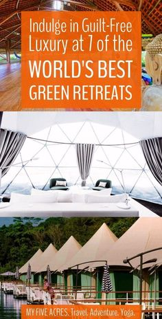 These luxury green retreats may not be totally affordable but they are FABULOUS and guilt-free. Even if you travel on the cheap, these 7 eco retreats will stoke your 2018 travel dreams. Travel Destinations, Travel Tips, Travel Hacks, Travel Ideas, Travel Checklist, Travel Stuff, Budget Travel, Online Travel Agent, Asia
