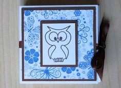 Teebeutel-Heft, Geburtstagskarte, Eule,