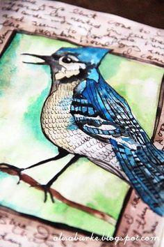 beautiful birds - on-line class by Alisa Burke