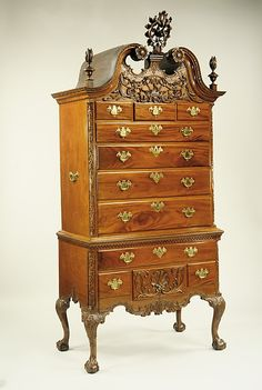 1755-1790 American (Pennsylvania) High chest of drawers at the Metropolitan Museum of Art, New York