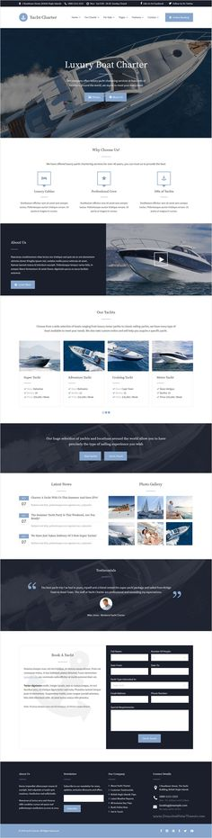 Yacht Charter is a modern #WordPress theme designed specifically for #yachting, #boating, water sports, and marine activities #website download now➩ https://themeforest.net/item/yacht-charter-wordpress-theme/18330702?ref=Datasata