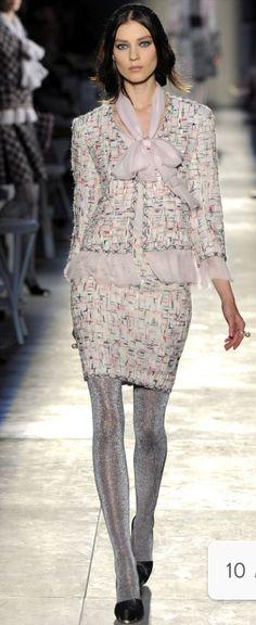 Classic Chanel boucle suit, Autumn Winter 12/13