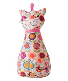 Loving this Cat Soft Sculpture Doorstop on #zulily! #zulilyfinds