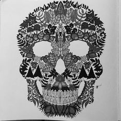 1000 Images About Coloring Skulls On Pinterest