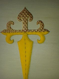 goldwork embroidery - cross of St.James