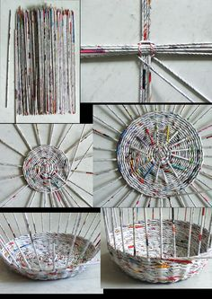 DIY Newspaper Basket with Compartments DIY Newspaper Basket with Compartments Newspaper Basket, Newspaper Crafts, Old Newspaper, Newspaper Wall, Recycled Magazines, Old Magazines, Recycled Crafts, Recycled Magazine Crafts, Recycled Jewelry