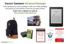 Enter NY Creative Interns Sweet Summer #CareerSweeps! I would love to win such an awesome prize pack! Enter here: http://www.nycreativeinterns.com/2013/06/25/attention-young-creatives-in-nyc-enter-our-sweet-summer-careersweeps/