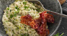 Risotto med grøntsager og bacon