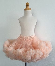Another great find on #zulily! Chicaboo Peach Champagne Couture Pettiskirt - Infant, Toddler & Girls by Chicaboo #zulilyfinds