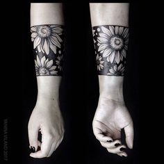 Negative space flower tattoo inked on the left forearm by Yanina Viland Forearm Cover Up Tattoos, Cover Up Tattoos For Women, Tattoo Cover, Wrist Tattoos For Women, Tattoos For Guys, Tribal Tattoos, Body Art Tattoos, Sleeve Tattoos, Belly Tattoos