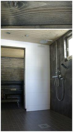 Tarja's Snowland: Saunan ja kylpyhuoneen tienoo Log Home Living, Scandinavian Home, Log Homes, Beautiful Homes, Bathtub, Saunas, Bathrooms, Home Decor, Timber Homes