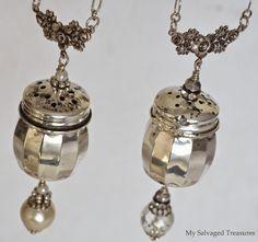 My Salvaged Treasures: Salt & Pepper Shaker Necklaces