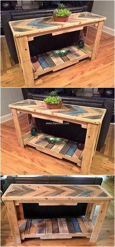 pallet sofa side table idea
