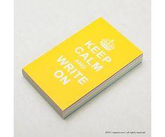 Keep Calm & Write ON Sarı